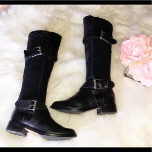 Cole Haan Shoes - COLE HAAN Black Leather Tall Boots